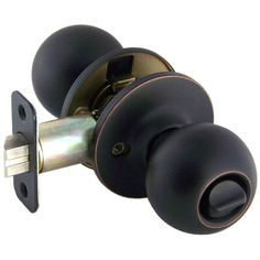 Designers Impressions Ashland Design Oil Rubbed Bronze Privacy Door Knob (Bed & Bath) Designers Impressions