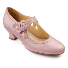 """Pink on sale $95 leather, leather & fabric lining. Heel1.75"""" UK manufacter.  Valetta Shoes from HotterUSA"""