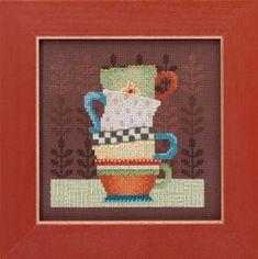 Coffee Cups - Beaded Cross Stitch Kit