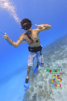 Duing a some snuba in the amazing reef of Cancún.