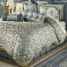 Bring quaint charm to your bedroom with the Sterling II Factory Second King Comforter Bedding. Oversized comforter has a golden wheat damask scroll pattern. King Comforter, Comforter Sets, Comforters Bed, Bedroom Furniture Sets, Bedroom Decor, Romantic Master Bedroom, Master Suite, Bed Linen Design, Luxury Bedding Sets
