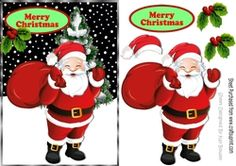Lovely Jolly Santa with his sack of presents on Craftsuprint - View Now!