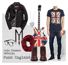 """""""Hetalia - Punk England"""" by shaylinka on Polyvore featuring BoohooMAN, Ben Sherman, Superdry, Express, The North Circular, Dr. Martens, Edge Only, Lacoste, men's fashion and menswear"""
