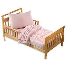 TL Care® Soft Dot 4-Piece Toddler Bedding Set in Pink