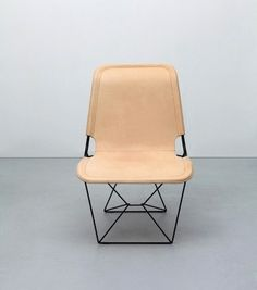 leather / metal frame chair