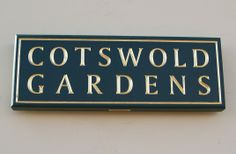 Cotswold Gardens House Name Sign   Danthonia Designs