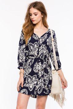 Платье Размеры: S, M, L Цвет: синий с принтом Цена: 2237 руб.     #одежда #женщинам #платья #коопт