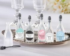 Personalized Bubble Bottles (set of 24) People blowing bubbles at weddings is actually very beautiful - and personalized!