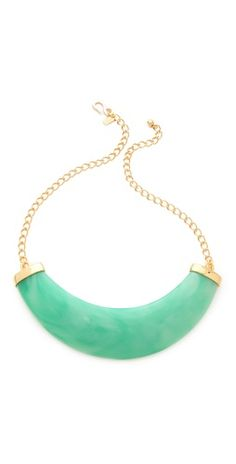 Kenneth Jay Lane Resin Bib Necklace | More pastel lusciousness here: http://mylusciouslife.com/prettiness-luscious-pastel-colours/
