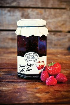 Our unique Sherry Trifle Jam is made in small batches with strawberries, raspberries, sherry and vanilla. It really tastes of home-made sherry trifle! Contains 22.5% strawberries, 22.5% raspberries and 3% sherry and is traditionally made in open copper pans.