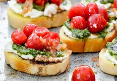 Have I mentioned that I love cute food? I probably have. I tend to repeat myself. Sorry. Bruschetta ranks right up there in my book of foods that are as enjoyable to look at as they are to eat. I mean, who can resist adorable little toasts piled high with colorful and delicious ingredients. Nobody