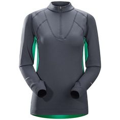 Arcteryx Cyclic Zip Neck  Womens Seaglass Small * You can find out more details at the link of the image.