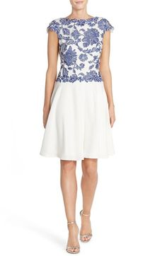 Tadashi Shoji Embroidered Lace Fit & Flare Dress available at #Nordstrom