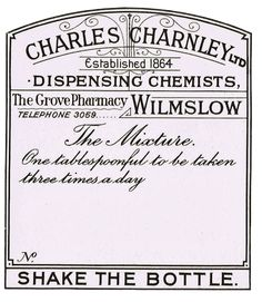 Knick of Time | Antique Graphics Wednesday – Vintage Pharmacy Labels | http://knickoftime.net