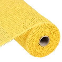 "Yellow 10"""" Woven Paper Mesh"