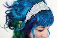 Lightning Bolt Headband, Silver Glitter, Adult Headband Black Friday Etsy Cyber Monday Etsy. £19.00, via Etsy.