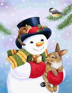 Téli és karácsonyi / aranyos illusztrációk