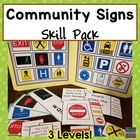 Community Signs Skill Pack Leveled for Special Education (Life Skills - Autism) Being able to identify and understand community signs is a . Life Skills Lessons, Life Skills Activities, Life Skills Classroom, Teaching Life Skills, Special Education Classroom, Teaching Strategies, Teaching Resources, Classroom Ideas, Vocational Skills