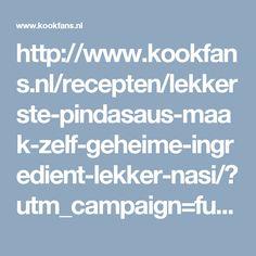 http://www.kookfans.nl/recepten/lekkerste-pindasaus-maak-zelf-geheime-ingredient-lekker-nasi/?utm_campaign=funnz