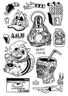 49 Ideas for art tattoo ideas draw inspiration Tattoo Sketches, Tattoo Drawings, Body Art Tattoos, Art Drawings, Tattoo Art, Blackwork, Tatuagem Old Scholl, Graffiti, Posca Art