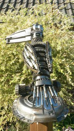 Scrap metal art by Jan van Daal