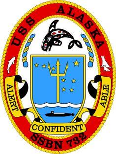 Official logo of USS Alaska (SSBN 732)