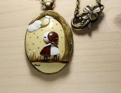 Collana ciondolo bronzo  collana medaglione di ClaudiaNicolazzo