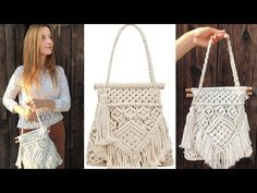 Basic Macrame Knots : Step by Step Guide Macrame Bag, Macrame Knots, Zara Models, Diy Bags Purses, 31 Bags, Micro Macramé, Macrame Design, Macrame Projects, Macrame Tutorial
