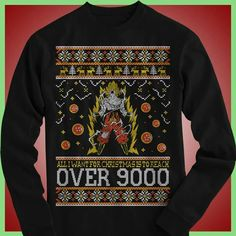 Dragonball Z Christmas sweater featuring Goku and Vegeta. I must ...