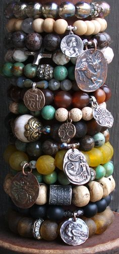 both inspirational and spiritual...bracelets to mix and match