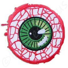 Kreepsville 666 Giant Eyeball Patch ($4.57) ❤ liked on Polyvore featuring patches, fillers, extra, bags and eyes