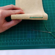 How to sew a leather cover tutorial. #bookbinding
