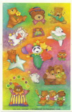 VTG Current, Inc. Stickers - TEDDY BEARS (1991)