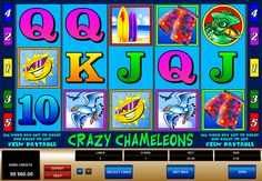 Microgaming decided to let your fantasy flew far away, because in Crazy Chameleons reptilies decided to go on vacation and you what that means. Prepare for unbelievable and at the same time well-made images. This slot has 5 reels and 5 paylines and if you get 5 chameleon symbols, then 5000 coins jackpot is yours!