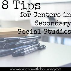 Centers aren't just for elementary school. 8 tips for setting up centers in soci… Centers aren't just for elementary school. 8 tips for setting up centers in social studies for secondary teachers. Ready, set, go! 7th Grade Social Studies, Social Studies Projects, Social Studies Notebook, Social Studies Classroom, Social Studies Activities, History Classroom, Teaching Social Studies, Teaching History, History Education