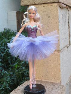 "OOAK ""Lilac Fairy"" Sleeping Beauty ballet tutu for model muse Barbie"