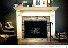 Fireplace mantel design plans designs ideas stylish traditional for Wood Fireplace Surrounds, Red Brick Fireplaces, Farmhouse Fireplace Mantels, Rustic Fireplaces, Fireplace Ideas, Mantle Ideas, Fireplace Mantle, Modern Farmhouse Porch, Boho Chic Living Room