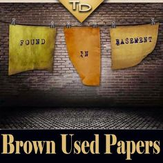 Brown Used Papers | Textures | Creative Graphic Resources