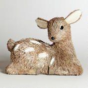 World Market. Woodland. Baby Deer. Shower. Party. Natural Fiber Sitting Baby Deer