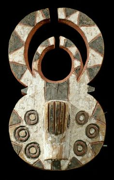 from the Gurunsi people of Burkina Faso and Ghana African Masks, African Art, African Traditions, Historical Artifacts, Masks Art, Indigenous Art, Wooden Art, African Culture, Ocean Art