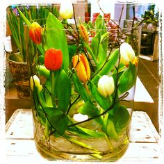 Tulips Spring Flowers, Tulips, Table Decorations, Design, Home Decor, Decoration Home, Room Decor, Home Interior Design, Tulip