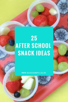 After school snack ideas for kids, easy family food from daisies and pie