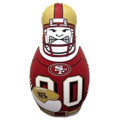 San Francisco Tackle Buddy is an Officially licensed team inflatable punching bag stands 40 inches tall and is weighted for stability and bounce back action. Football Gear, Ohio State Football, Ohio State Buckeyes, All Nfl Teams, Nfl San Francisco, Punching Bag, Nfl Fans, Georgia Bulldogs, Action