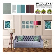 """Cacti + Succulents"" by leoll ❤ liked on Polyvore featuring interior, interiors, interior design, home, home decor, interior decorating, WALL, William Stafford, Serena & Lily and Dot & Bo"