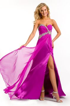 magenta+color+braidsmaid+dresses | Magenta and Sailing Blue Empire Floor Length Sweetheart Low Back Sexy ...