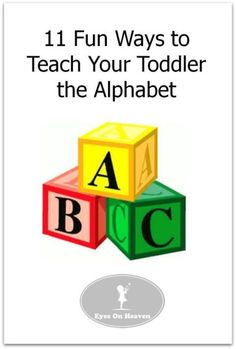 Don't miss these 11 creative, fun and sensory activities to help teach your young child the alphabet!