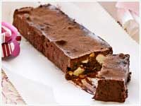 Chocolate and date torrone