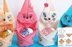 Comment plier les serviettes de tables en mignons lapins pour Pâques!