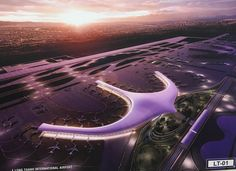 Public consultation on Long Thanh International Airport design Creative Architecture, Concept Architecture, Airport Design, Futuristic City, Canopies, Zaha Hadid, Future City, Urban Planning, International Airport
