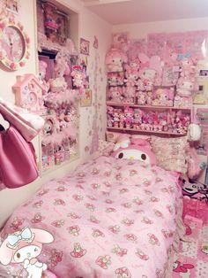 kawaii bedroom decor - Internal Home Design Hello Kitty Zimmer, Hello Kitty Haus, Hello Kitty Bedroom, Hello Kitty Room Decor, Cute Room Ideas, Cute Room Decor, Pastel Room Decor, Girls Bedroom, Bedroom Decor
